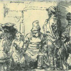 Rembrandt, etching, Bartsch B.