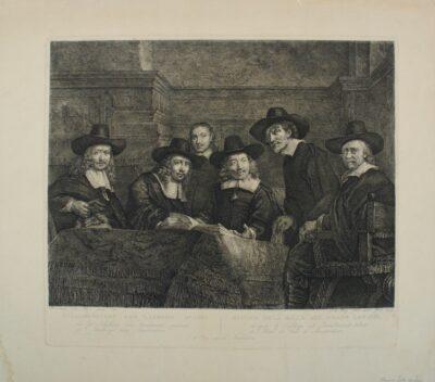 Rembrandt, schilderij, de staalmeesters