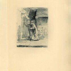Rembrandt, Ets, Bartsch B. 42, De blinde Tobias: grote plaat