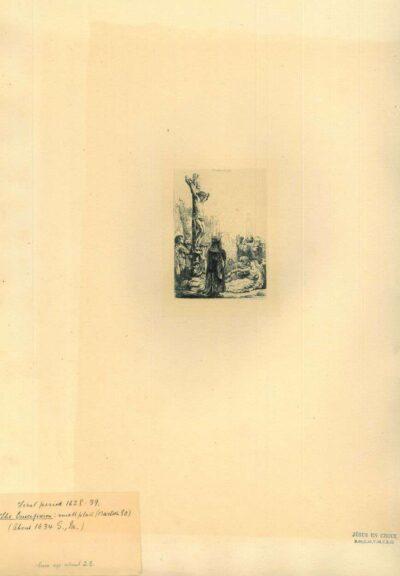 Rembrandt, ets, Bartsch B. 80, De kruisiging: kleine plaat