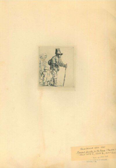 Rembrandt, Etching, Bartsch B. 131, Rondtrekkende boerenfamilie
