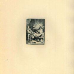 Rembrandt, Ets, Bartsch B. 88, Christus te Emmaüs: kleine plaat