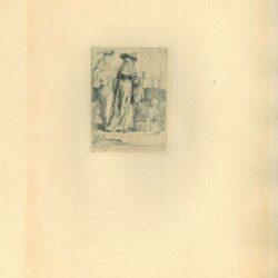 Rembrandt, Ets, Bartsch B. 109, De dood en de jonggehuwden