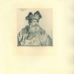 Rembrandt, Ets, Bartsch B. 265, Oude man met een bontmuts met een gespleten opstaande rand