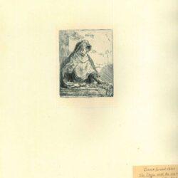Rembrandt, Ets, Bartsch B. 85, De maagd Maria met de passiewerktuigen