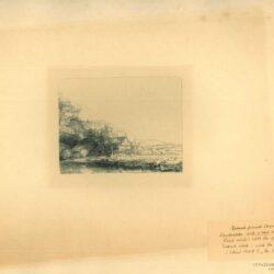 Rembrandt, Ets, Bartsch B. 237, Landschap met drinkende koe