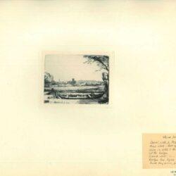 Vaart met roeiboot en brug ofwel 'Het schuytje op de voorgrondt'