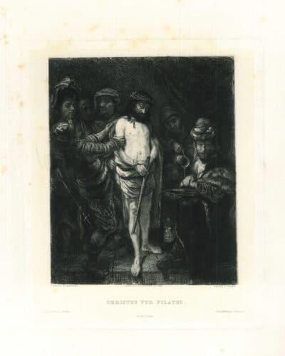 Rembrandt, Christus voor Pilatus
