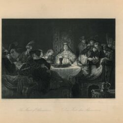 The Wedding Feast of Samson, Etching after the Painting by Rembrandt