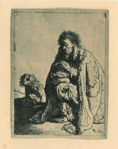 Rembrandt, etching, Bartsch b. 175,