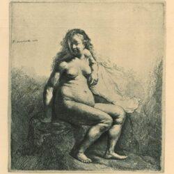 Rembrandt, etching, Bartsch b. 198,