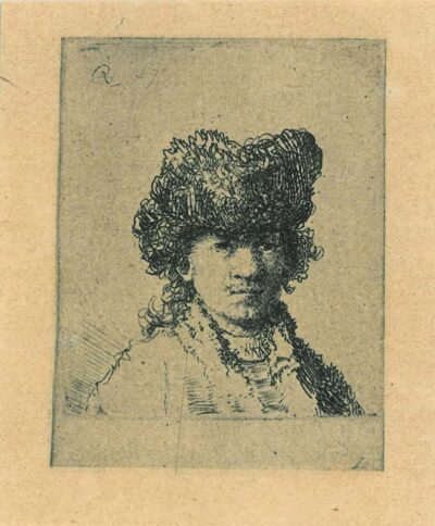 Rembrandt, etching, Bartsch b. 24,