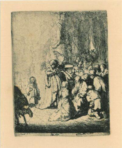 Rembrandt, etching, Bartsch b. 51,