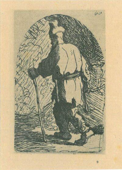 Rembrandt, etching, Bartsch b. 54, The flight into Egypt: a sketch