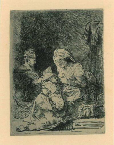 Rembrandt, etching, Bartsch b. 62,
