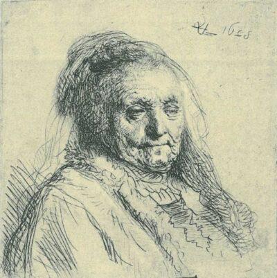 Rembrandt, etching, Bartsch b. 354,