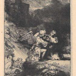 Rembrandt Bartsch B. 75, Christus in de Hof van Getsemane