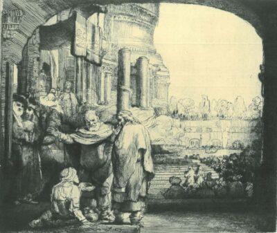 Rembrandt Etching, Bartsch B. 94,