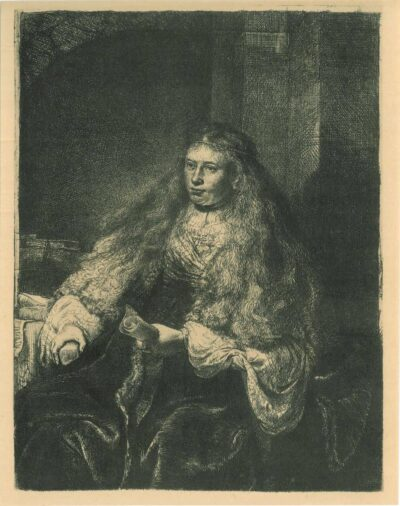 Rembrandt, etching, Bartsch B. 340, The great Jewish bride
