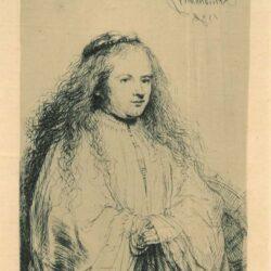 Rembrandt, Etching, Bartsch B. 342, The little Jewish bride [Saskia as St. Catherine]