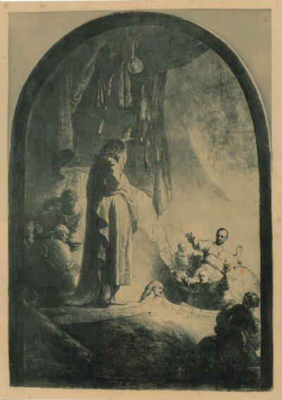 Rembrandt etching, Bartsch B. 73,