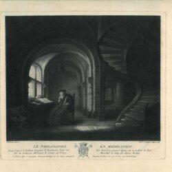 Rembrandt, schilderij, salomon koninck, Filosoof met een open boek in studeervertrek