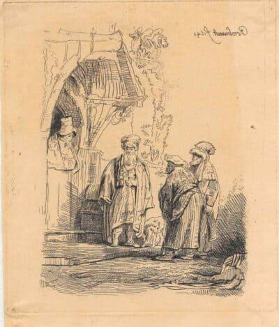 Rembrandt, Bartsch B. 118, New Hollstein 190, copy e,