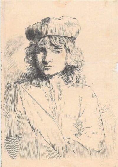 Rembrandt, Bartsch B. 11, New Hollstein 297, Titus van Rijn (1641-1668), de zoon van Rembrandt