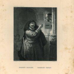 Simson bedreigt zijn schoonvader, schilderij Rembrandt