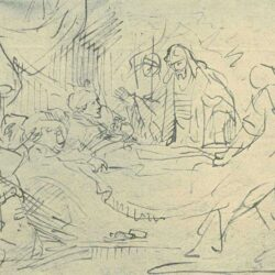 Drawing by Rembrandt or Jan Victors,