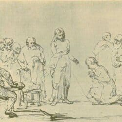 Drawing Rembrand, Samuel van Hoogstraten, Christ Appears to the Doubting Thomas
