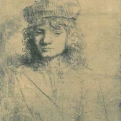 Rembrandt etching portrait of titus