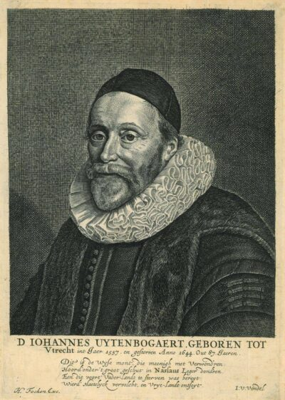Rembrandt, schilderij, portret van Johannes Uytenbogaert door Hendrik Bary