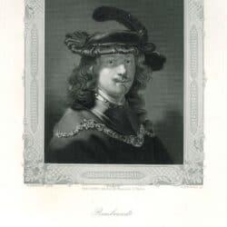 Rembrandt, Zelfportret met fluwelen baret en gouden ketting